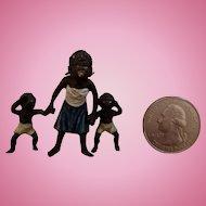 Vienna Bronze Miniature Black Family