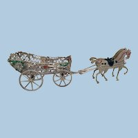 Miniature Horse & Carriage Soft Metal Toy