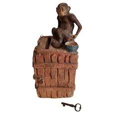 Elastolin Monkey on Crate Bank