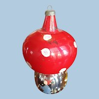 Large Glass Mushroom Christmas Ornament