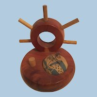 Nautical Ship's Wheel Thread & Thimble Holder and Pincushion