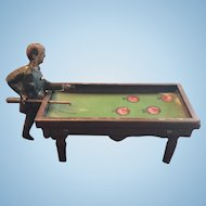 Very Old Penny Toy Pool Billiards Player