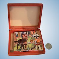 Miniature Doll Size Picture Puzzle Blocks