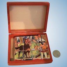 Miniature Doll Size Picture Puzzle Blocks