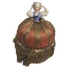 Porcelain Pincushion Doll