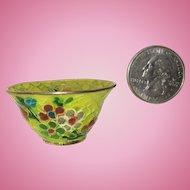 Plique A Jour Miniature Doll House Size Bowl