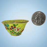 Plique A Jour Miniature Doll House Size Bowl