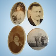 Vintage Photo Portrait Lipstick Pocket Mirrors