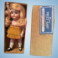 German Prize Baby All Bisque Doll in Original Box