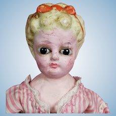 Pumpkin Head Wax Doll