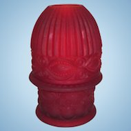 Red Satin Glass Fairy Lamp