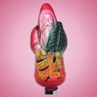Large Vintage Santa Claus Figural Christmas Bulb