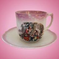 Santa Scene German Child's Cup & Saucer Set