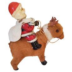 Santa on Reindeer Windup Toy