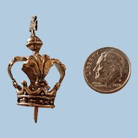 Antique Baroque Miniature Santos Crown