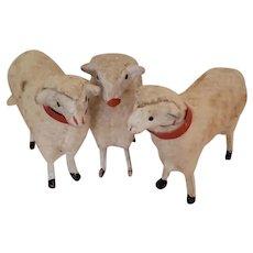 Trio of German Putz Sheep