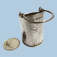 Antique Miniature Dollhouse Size Coal Bucket