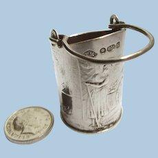 Antique Miniature Dollhouse Size Coal Bucket