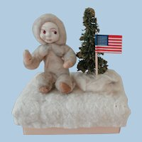 Spun Cotton Christmas Figure on Box