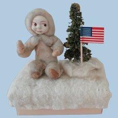 Spun Cotton Christmas Figure on Box