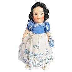 Near Mint Disney Snow White Oilcloth Doll