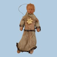 Spun Cotton Baby or Child Christmas Ornament