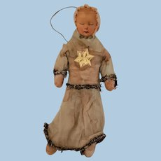 Spun Cotton Baby or Child Christmas Ornament