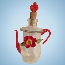 Miniature Glass Teapot Perfume Scent Bottle
