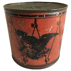 Patriotic Toy Tin Drum Bank
