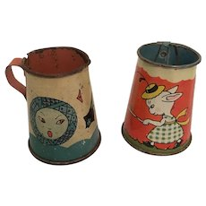 Vintage Tin Child's Pitchers