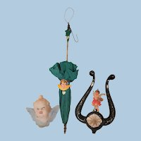 Three Christmas Tree Ornaments