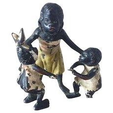Miniature Vienna Bronze Black Family Figurine