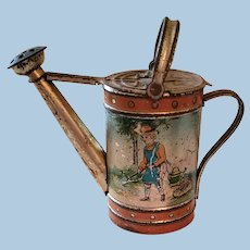 Miniature Doll Size Watering Can Candy Container