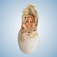 Wax Squeaker Baby Doll in Egg Candy Container