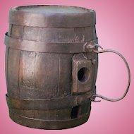 Very Old Wooden Whiskey Barrel Keg