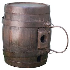 Very Old Wooden Whiskey Barrel Keg