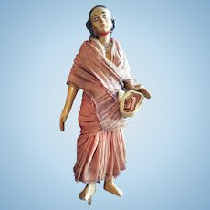 Wooden Female Indian Doll