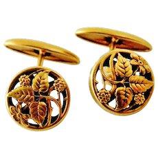 French art nouveau FIX gold filled cufflinks