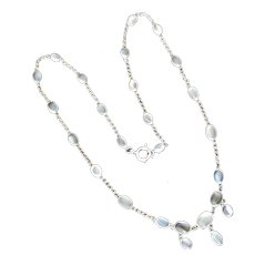 Vintage sterling silver and Ceylon moonstone necklace