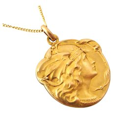 French FIX pendant of the goddess Marrianne by Becker