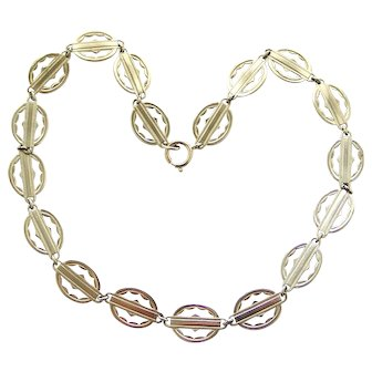 Lovely vintage art deco sterling silver collar chain