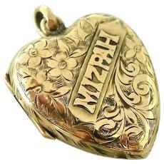 Victorian Mizpah locket in pale rose gold fill