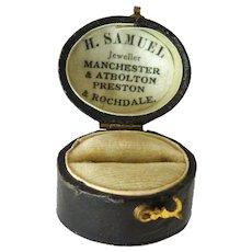 Victorian presentation ring box H Samuel circa 1890