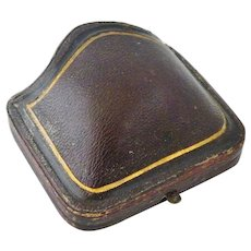 Victorian presentation brooch box , leather circa 1860