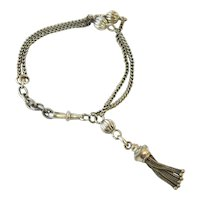 Antique silver tassel albertina bracelet