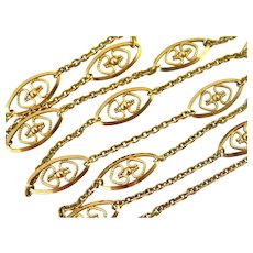 French FIX 18k gold filled filigree chain