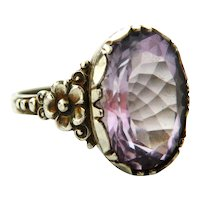 Arts and Crafts 835 silver amethyst ring