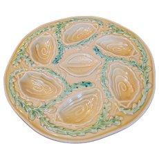 Vintage Majolica Oyster Plate