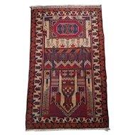 Antique Afghan Wool Prayer Rug