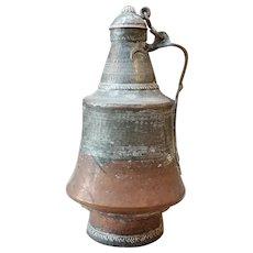 Antique Bedouin Copper Water Pitcher